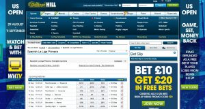 Spanish La Liga Primera betting odds at William Hill